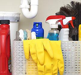 Limpieza de baños con Windex