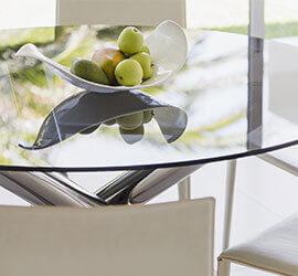 Limpieza de vidrio con un brillo sin marcas