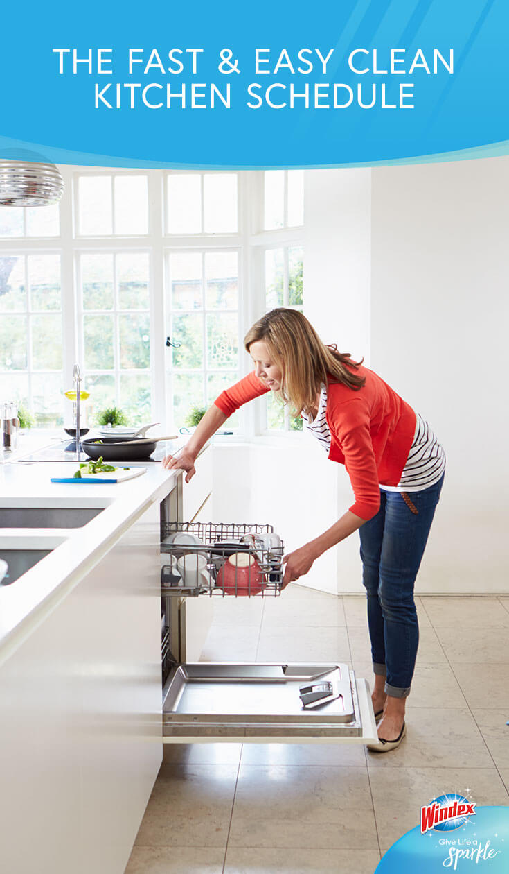 The Fast Easy Clean Kitchen Schedule