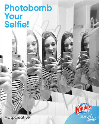 Windex photobomb your selfie