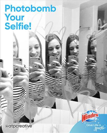 Windex cuélese en su selfi
