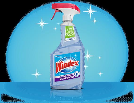 Limpiador de vidrios sin amoníaco Windex® frente
