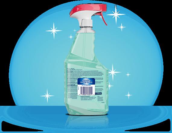 Limpiador desinfectante multisuperficie Windex® con Glade® Rainshower respaldo