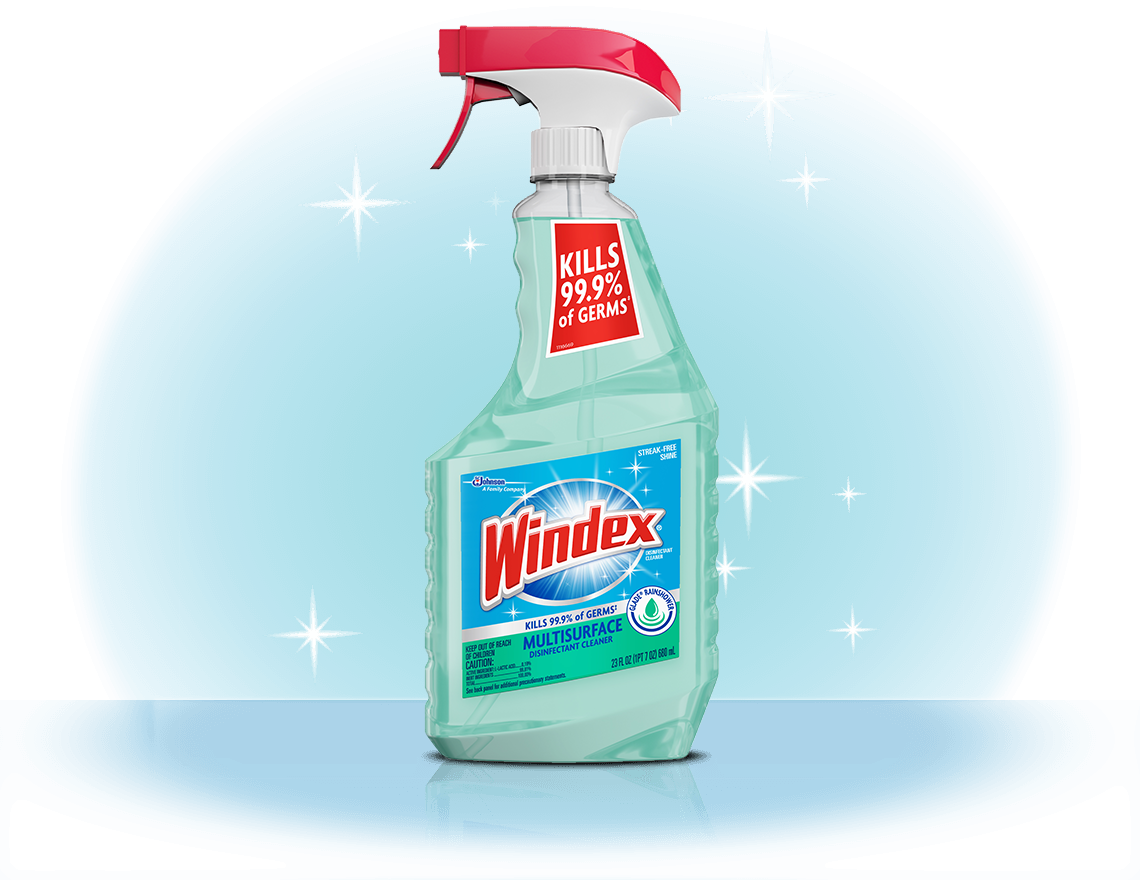 Windex® Multi-Surface Disinfectant Cleaner with Glade® Rainshower Front
