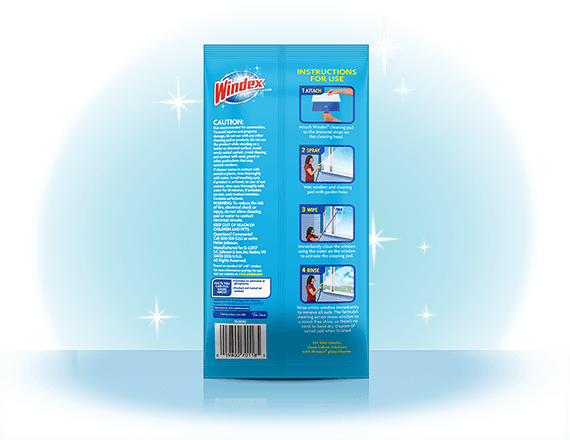 Windex® Outdoor All-In-One Starter Kit Window Cleaner Back