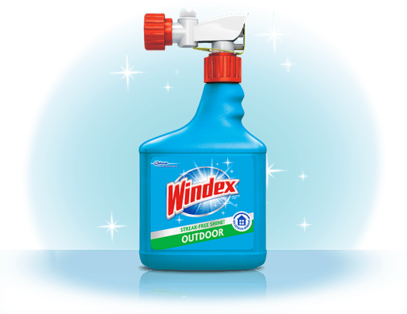 Limpiador de ventanas rociador para superficies exteriores Windex® frente